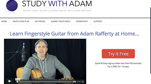 Study With Adam Fingerstyle Guitar Lessons